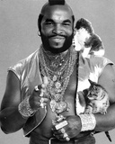 Mister T Posed in Blazer With Cat