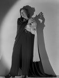 Gloria Swanson Posed in Black Gown