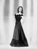 Susan Hayward wearing a Black Gown