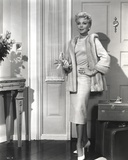 Lana Turner Smoking in Fur Dress