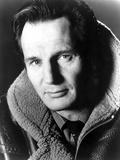 Liam Neeson in Fur Coat Portrait