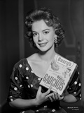 Natalie Wood Holding a Box of Cookies