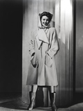 Loretta Young White Fashion Coat