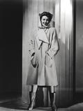 Loretta Young White Fashion Coat