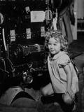 Shirley Temple Squatting in Dress