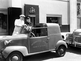 Abbott & Costello Posed with Car