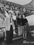 John Wayne by Airplane with people