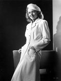 Donna Reed on a Coat and Leaning
