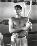 Robert Mitchum Poses Half-Naked
