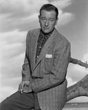John Wayne portrait in sports coat