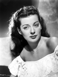 Gail Russell Posed in White Dress
