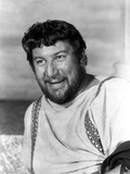 Peter Ustinov posed in White Dress