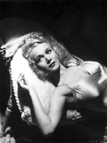 Carole Landis Lying on a Couch