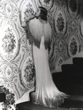 Loretta Young White Long Dress