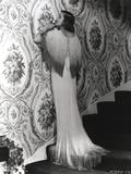 Loretta Young White Long Dress