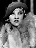 Mae West Dressed in Furry Coat