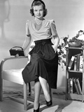Gale Storm Seated on Arm Chair