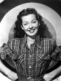 Gail Russell Leaning in Dress