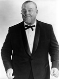 Burl Ives Posed in Black Suit