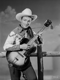 Roy Rogers Playing a Guitar