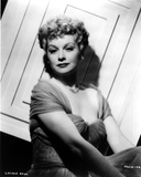 Lucille Ball Seated in Dress