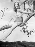 Veronica Lake posed on the Tree