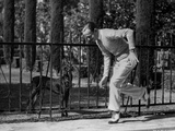 Fred Astaire Playing with Dog