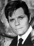 Jack Lord Posed in Black Suit