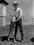 Gene Autry Posed with a Pony