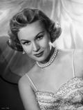 Virginia Mayo smiling in Dress