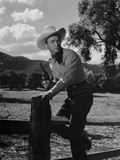 Roy Rogers Going Over the Fence