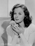 Susan Hayward Posed with a Rose
