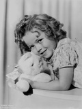 Shirley Temple Lying in Dress