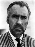 Christopher Lee in Stripe Suit