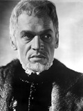 Paul Scofield Posed in Fur Coat