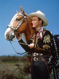 Roy Rogers with a Brown Horse