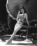 Ann Miller Leaning in Lingerie