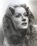 Rhonda Fleming wearing a Veil