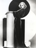 Alice Faye on a Gown standing