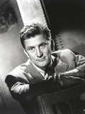 Kirk Douglas Seated in Classic