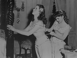 Susan Hayward on a Movie Scene