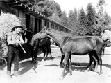 Roy Rogers Carrying Hay