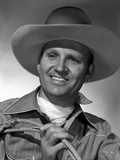 Gene Autry Holding a Rope
