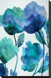 Aqua Blossom Triptych III