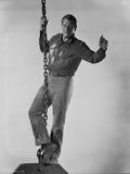 John Wayne hanging in air