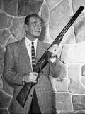 John Wayne with rifle