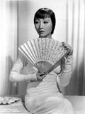 Anna Wong Holding a Fan