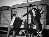 Fred Astaire Riding a Train