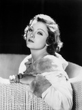 Myrna Loy Seated in Classic