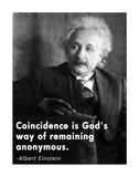 Coincidence Einstein Quote
